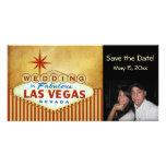 Ahorre la fecha Las Vegas que casa Photocard Tarjeta Personal Con Foto