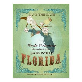 Ahorre la fecha - mapa de la Florida con los Postal