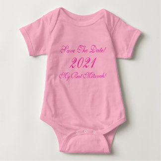 ¡Ahorre la fecha! ¡, Mi palo Mitzvah! , 2021 Body Para Bebé