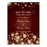 Ahorre la fecha, monograma + burbujas del champán tarjetas postales