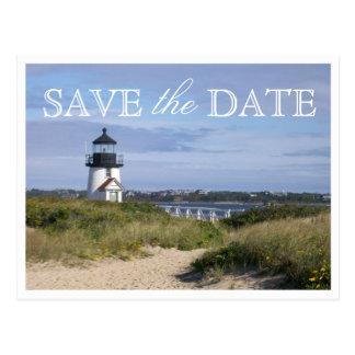 Ahorre la fecha Nantucket que casa la luz del Tarjetas Postales