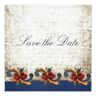 Ahorre la fecha - noruego Rosemaling Invitación Personalizada