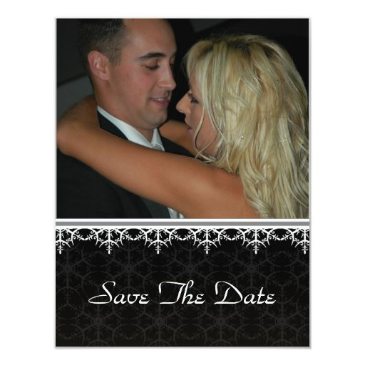 Ahorre la fecha - Ornamental negro Invitacion Personal