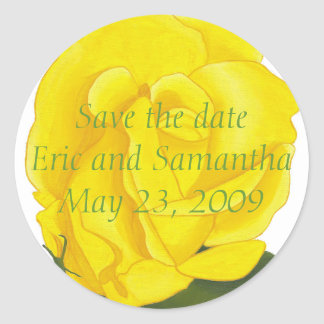 Ahorre la fecha, pegatinas brillantes del boda del pegatina redonda