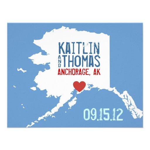 Ahorre la fecha - personalizable - Alaska Anuncios Personalizados