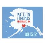 """Ahorre la fecha - personalizable - Alaska Invitación 4.25"""" X 5.5"""""""