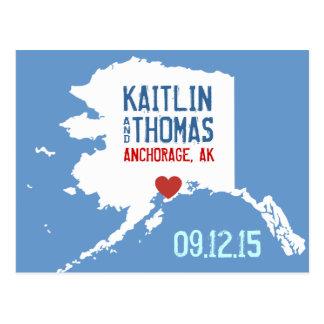 Ahorre la fecha - personalizable - Alaska Postales