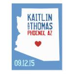 Ahorre la fecha - personalizable - Arizona Postales