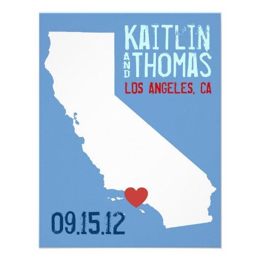 Ahorre la fecha - personalizable - California Comunicado