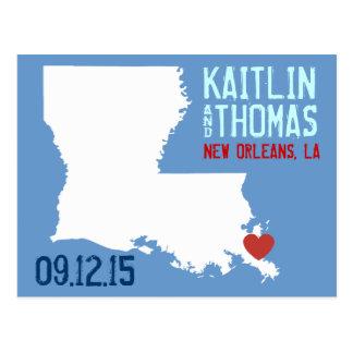 Ahorre la fecha - personalizable - Luisiana Postales