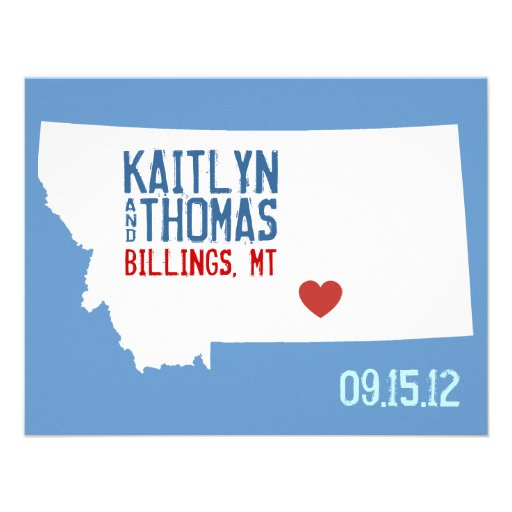 Ahorre la fecha - personalizable - Montana Invitacion Personal