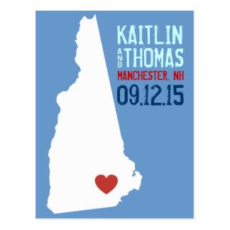 Ahorre la fecha - personalizable - New Hampshire Postales