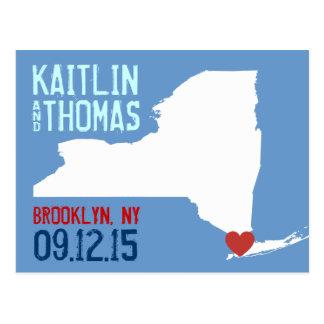 Ahorre la fecha - personalizable - Nueva York Postales