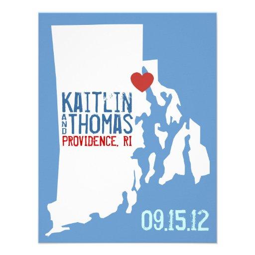 Ahorre la fecha - personalizable - Rhode Island Anuncios Personalizados