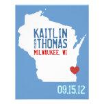 Ahorre la fecha - personalizable - Wisconsin Invitacion Personal