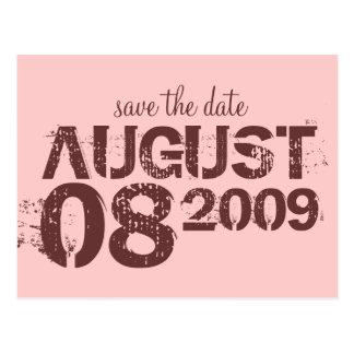 ahorre la fecha - personalizar postales