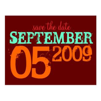 Ahorre la fecha postales
