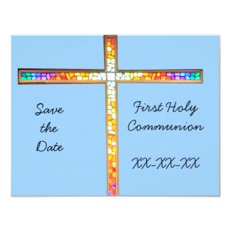 Ahorre la fecha - primera comunión santa invitación 10,8 x 13,9 cm