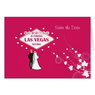 Ahorre la fecha que se casa en Las Vegas fabulos Felicitaciones