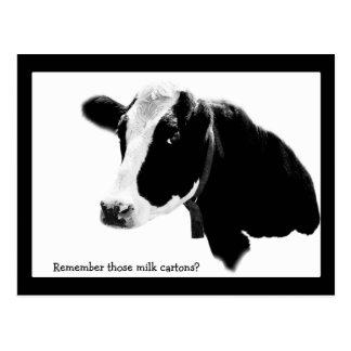 Ahorre la fecha - reunión de escuela con una vaca postal