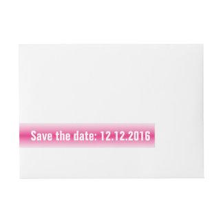 Ahorre la fecha, rojo pálido pegatinas postales