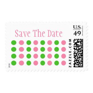 Ahorre la fecha (rosa clara/el sello de la verde l