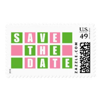 Ahorre la fecha (rosa clara/las cajas cuadradas sello