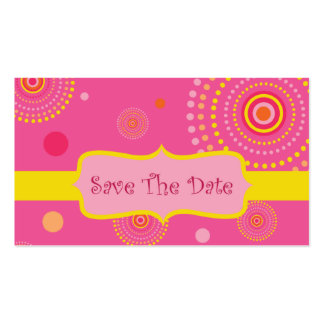 Ahorre la fecha tarjetas de visita