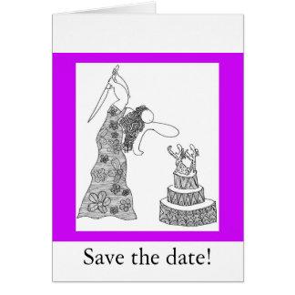 ¡Ahorre la fecha! Tarjeta De Felicitación