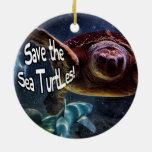 Ahorre la foto del animal de las tortugas de mar ornato