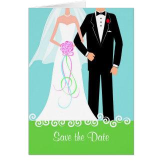 Ahorre la invitación de boda de la fecha tarjetas