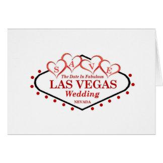 Ahorre la invitación de boda de Las Vegas de la fe Felicitacion