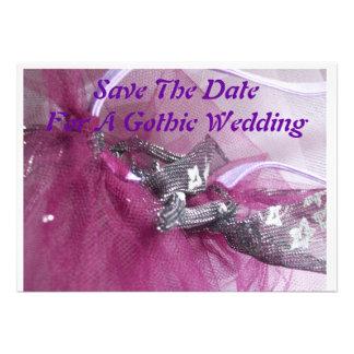 ahorre la invitación de boda gótica de la fecha