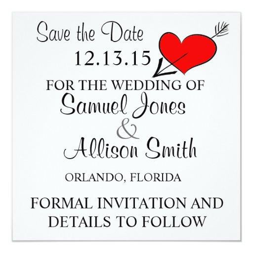Ahorre la invitación de la fecha