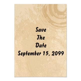 Ahorre la invitación de la fecha (fondo beige