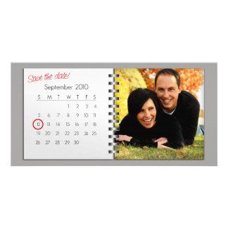 Ahorre la invitación de la foto de la fecha (septi tarjeta fotografica personalizada
