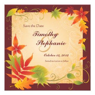 Ahorre la invitación de las hojas de otoño del bod