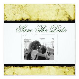 Ahorre la invitación del boda de la fecha invitación 13,3 cm x 13,3cm