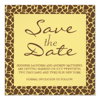 Ahorre la invitación del boda del safari del