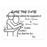 Ahorre la invitación del compromiso de la fecha postal