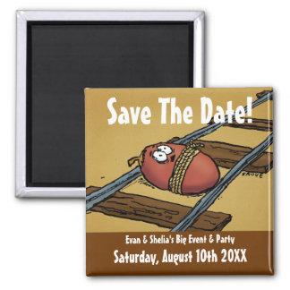 Ahorre la invitación divertida de la fecha imanes