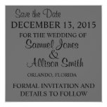 Ahorre la invitación gris simple del boda de la