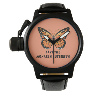 Ahorre la mariposa de monarca reloj