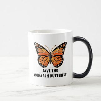 Ahorre la mariposa de monarca taza mágica