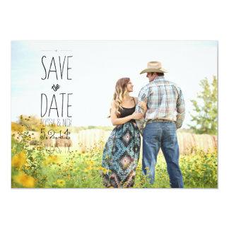 Ahorre la mirada de la postal de la fecha 5x7 invitación 12,7 x 17,8 cm