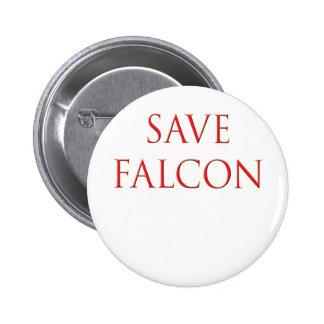 Ahorre la mosca del muchacho del globo del halcón pin redondo de 2 pulgadas