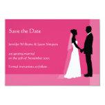 Ahorre la novia y al novio de la fecha en rosa invitacion personal