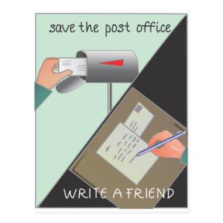 Ahorre la oficina de correos/escriba a un amigo postales