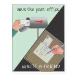 Ahorre la oficina de correos/escriba a un amigo tarjetas postales