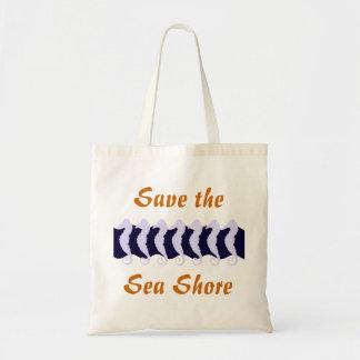 Ahorre la orilla de mar 2 bolsa de mano